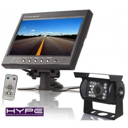HYPE HVPACKCA9880 Ecran TFT LCD 18cm pour Voiture camping car + Caméra de Recul