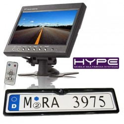 HYPE HVPACKCA311 Ecran 18cm + Support de plaque avec caméra