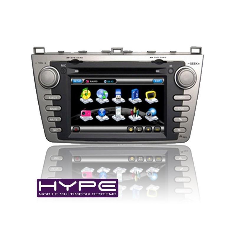 hype hsb8812gps autoradio 2 din gps dvd sd ipod compatible mazda 6. Black Bedroom Furniture Sets. Home Design Ideas
