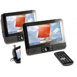 LECTEUR DVD 2 ECRANS 7 POUCE 12V DVD VCD SVCD MPEG4 ENTREE USB SD