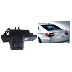 CAMERA DE RECUL INTEGREE DANS ECLAIRAGE PLAQUE BMW SERIE 3 5 6 X5 X6 -+MI017PLUS