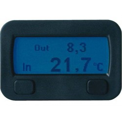 THERMOMETRE DIGITAL INTERIEUR EXTERIEURE12V CHEKTEMP TIME