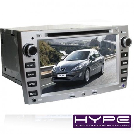 hype hsb2944gps autoradio 2 din gps 18cm dvd ipod usb sd pour peugeot 308 408. Black Bedroom Furniture Sets. Home Design Ideas
