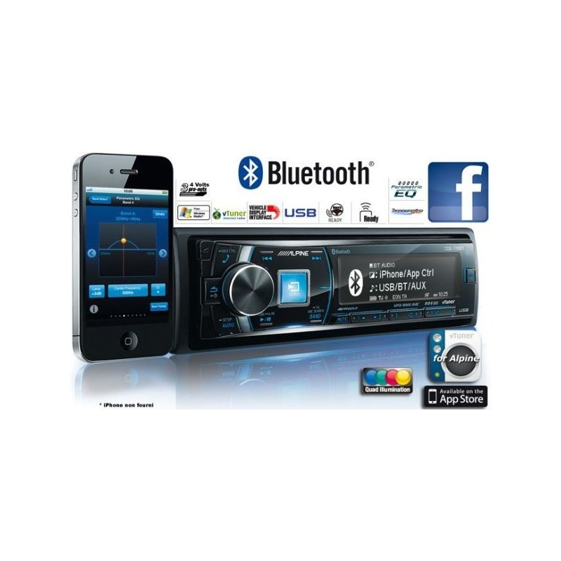 autoradio alpine bluetooth cde 178bt. Black Bedroom Furniture Sets. Home Design Ideas