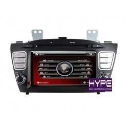HYPE HSB8716GPS Autoradio 2 DIN GPS 18cm DVD IPOD USB SD Pour HYUNDAI TUCSON IX35