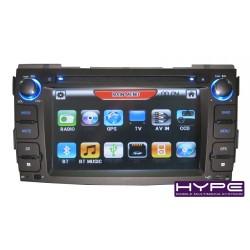 HYPE HSB6787GPS Autoradio 2 DIN GPS 16cm DVD IPOD USB SD Pour HYUNDAI SONATA