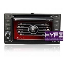 HYPE HSB8926GPS AUTORADIO 2 DIN GPS 16CM DVD DIVX USB SD POUR KIA CERATO SPORTAGE RIO