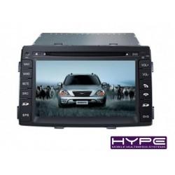 HYPE HSB8941GPS AUTORADIO 2 DIN GPS 18CM DVD DIVX USB SD POUR KIA SORENTO