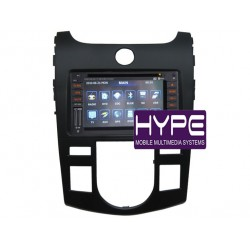 HYPE HSB1878GPS AUTORADIO 2 DIN GPS 16CM DVD DIVX USB SD POUR KIA CERATO FORTE