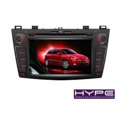 HYPE HSB8934GPS AUTORADIO 2 DIN GPS DVD SD IPOD COMPATIBLE MAZDA 3