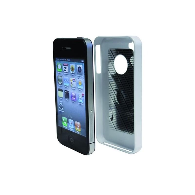 support coque magnetique blanc pour iphone 4 et 4s mediacarcenter. Black Bedroom Furniture Sets. Home Design Ideas
