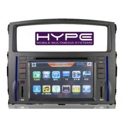 HYPE HSB7725GPS AUTORADIO 2 DIN GPS 18CM DVD/DIVX USB SD pour MITSUBISHI