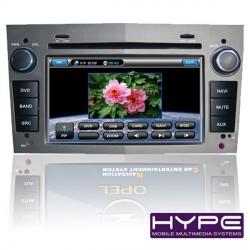 HYPE HSB8919GPS Autoradio 2 DIN GPS 18cm DVD IPOD USB SD Pour OPEL