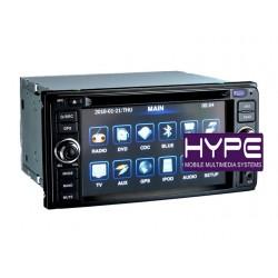 HYPE HSB2916GPS Autoradio 2 DIN GPS 16.5cm DVD USB SD Pour TOYOTA