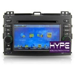 HYPE HSB8003GPS Autoradio 2 DIN GPS 18cm DVD IPOD USB SD Pour TOYOTA