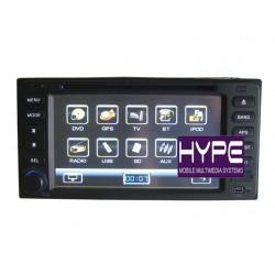 HYPE HSB6033GPS Autoradio 2 DIN GPS 16.5cm DVD USB SD Pour TOYOTA