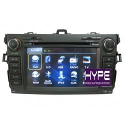 HYPE HSB8912GPS Autoradio 2 DIN GPS 16cm DVD IPOD USB SD Pour TOYOTA