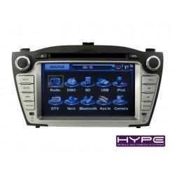 HYPE HSB6718GPS Autoradio 2 DIN GPS 18cm DVD IPOD USB SD Pour HYUNDAI TUCSON IX35