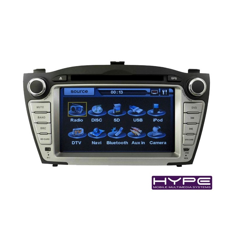 hype hsb6718gps autoradio 2 din gps 18cm dvd ipod usb sd pour hyundai tucson ix35. Black Bedroom Furniture Sets. Home Design Ideas