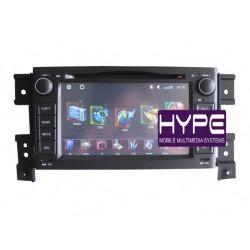 HYPE HSB8847GPS Autoradio 2 DIN GPS 18cm DVD DIVX USB SD IPOD Pour SUZUKI GRAND VITARA