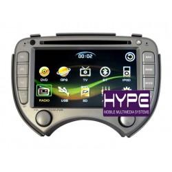 HYPE HSB7702GPS Autoradio 2 DIN GPS 18cm DVD IPOD USB SD Pour NISSAN MICRA