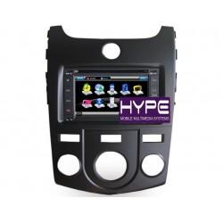 HYPE HSB8901KGPS AUTORADIO 2 DIN GPS 16CM DVD DIVX USB SD POUR KIA CERATO FORTE