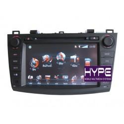 HYPE HSB8732GPS AUTORADIO 2 DIN GPS DVD SD IPOD COMPATIBLE MAZDA 3