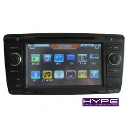 HYPE HSB7972GPS Autoradio 2 DIN GPS 18cm DVD IPOD USB SD Pour SKODA