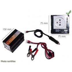 SURVOLTEUR 12V 220V 50 Hz 300 W avec prise USB 5V