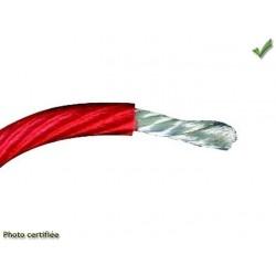 BOBINE DE FIL ELECTRIQUE 1mm2 10M ROUGE