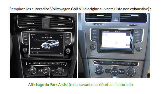 autoradio android 4 4 4 gps volkswagen golf 7 ebay. Black Bedroom Furniture Sets. Home Design Ideas