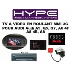 HYPE MODULE TV / DVD en Roulant - MMI 3G - Pour AUDI
