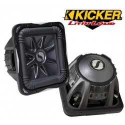 KICKER S12L74 Subwoofer carré 30cm double bobine 1500w