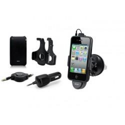 SUPPORT VENTOUSE POUR IPHONE3G ET 4G AVEC CABLE DE RECHARGE