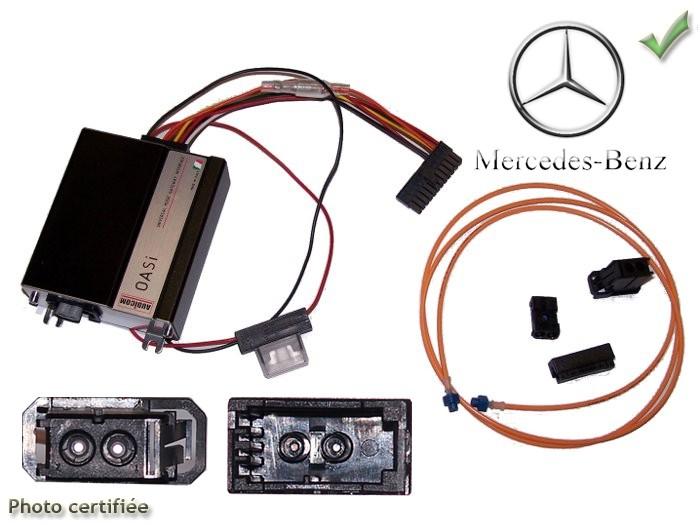 D/éflecteurs lat/éraux compatible avec Mercedes Classe-C sportcoupe 2001-2008