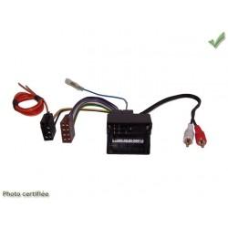 FAISCEAU AUTORADIO AUDI 2007 ET + FAKRA ET + RCA 4X40W SYSTEME AMPLIFIE NON BOSE