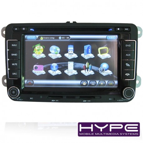 HYPE HSB7501GPS Autoradio 2 DIN GPS 18cm DVD IPOD USB SD Pour SKODA