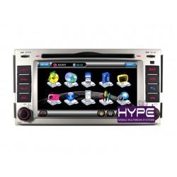 HYPE HSB8908GPS Autoradio 2 DIN GPS 16cm DVD IPOD USB SD Pour HYUNDAI SANTAFE / ELANTRA / SONATA