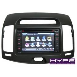 HYPE HSB8901EGPS Autoradio 2 DIN GPS 16cm DVD IPOD USB SD Pour HYUNDAI ELANDRA