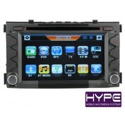 HYPE HSB7976GPS AUTORADIO 2 DIN GPS 18CM DVD DIVX USB SD POUR KIA SOUL