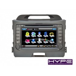 HYPE HSB8974GPS AUTORADIO 2 DIN GPS 18CM DVD DIVX USB SD POUR KIA SPORTAGE