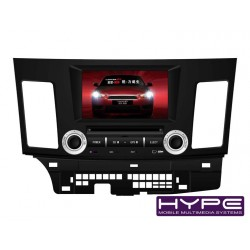HYPE HW7821GPS AUTORADIO 2 DIN GPS 20CM DVD DIVX USB SD IPOD POUR MITSUBISHI LANCER
