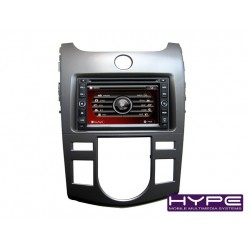 HYPE HSB8916KGPS AUTORADIO 2 DIN GPS 16CM DVD DIVX USB SD POUR KIA CERATO FORTE