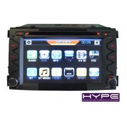 HYPE HSB6826GPS AUTORADIO 2 DIN GPS 16CM DVD DIVX USB SD POUR KIA SOUL