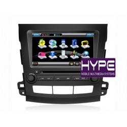 HYPE HSB8956GPS AUTORADIO 2 DIN GPS 20CM DVD DIVX USB SD IPOD POUR MITSUBISHI OUTLANDER