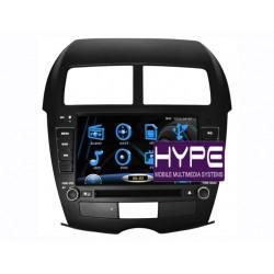 HYPE HSB8110GPS AUTORADIO 2 DIN GPS 20CM DVD DIVX USB SD IPOD POUR MITSUBISHI ASX