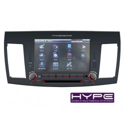 HYPE HSB8128GPS AUTORADIO 2 DIN GPS 20CM DVD DIVX USB SD IPOD POUR MITSUBISHI LANCER