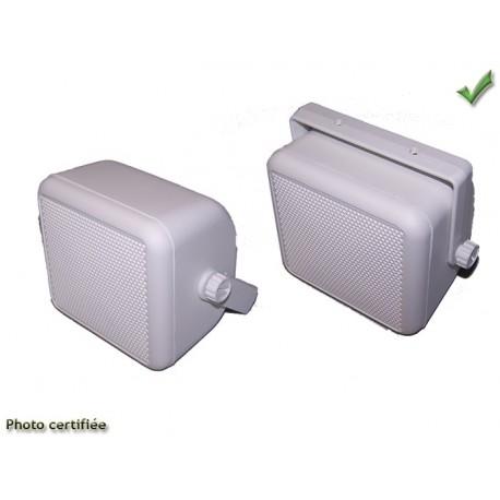 HAUT-PARLEUR BOX D100 BICONE 30W BLANC (GK4010I+51028Bx2)