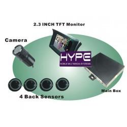 HYPE HSRD729Capteur Parking avec caméra et écran LCD 2.3 pouces