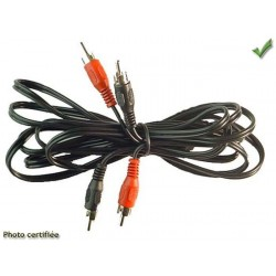 CABLE SIGNAL RCA 2.50m MALE MALE ECO